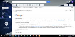 Thông báo Khóa tài khoản email Google Apps
