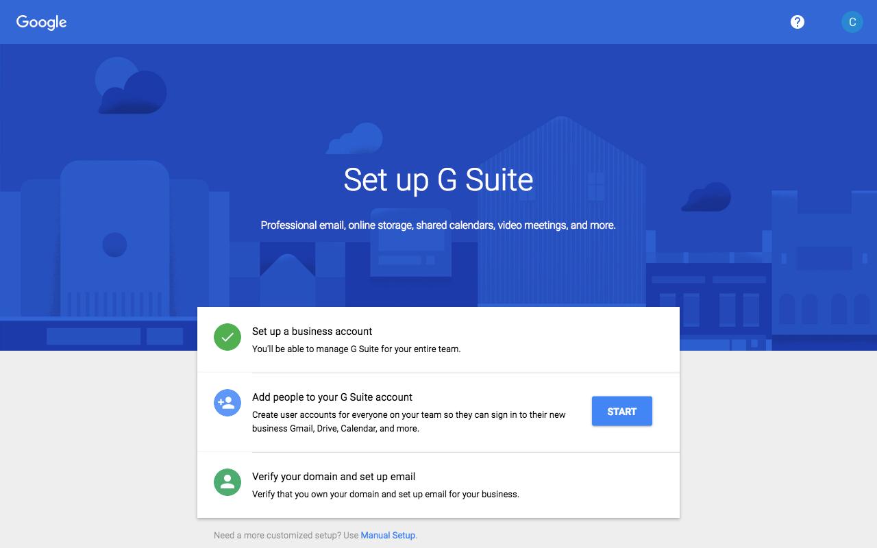 Bước 7: Bấm START và nhập thông tin các người dùng trong doanh nghiệp của bạn