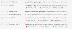 Xem các file đính kèm ngay trong inbox mà không cần mở nội dung email.