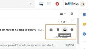 Đánh dấu đã đọc hoặc xóa thư ngay trong Inbox.