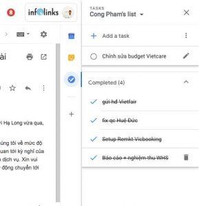 Quản lý công việc với Task ngay trong Gmail