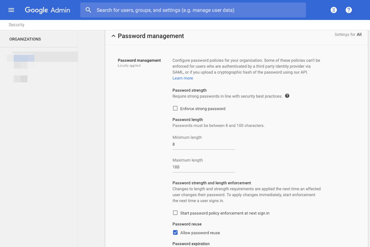 Các tùy chọn Thiết lập bảo mật trong G Suite (2)