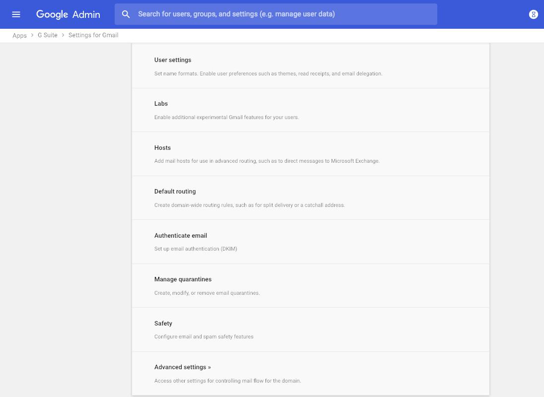 Tùy chọn bảo mật với Email trong G Suite