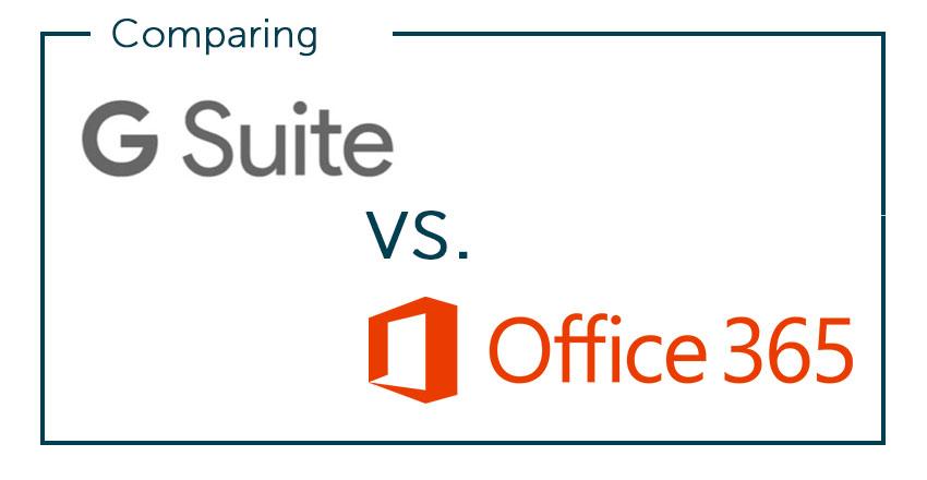 So sánh G Suite và Office 365